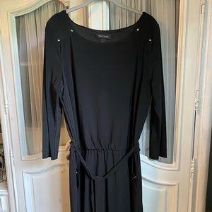 WHBM black scoop neck dress